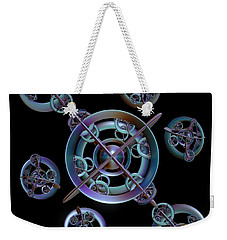 Weekender Tote Bag featuring the digital art Orbital Bliss by Sara Raber