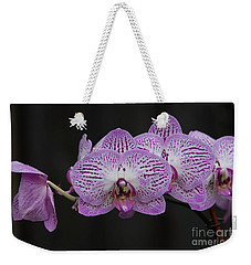 Orchids On Black Weekender Tote Bag