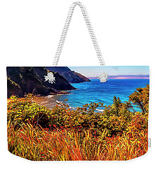 Weekender Tote Bag featuring the photograph Oregon Coastal Waters by Nancy Marie Ricketts