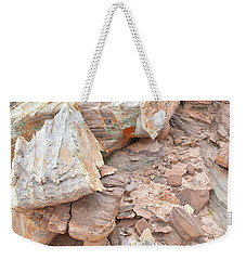 Weekender Tote Bag featuring the photograph Ornate Sandstone In Valley Of Fire by Ray Mathis