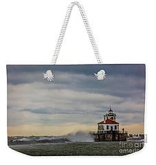 Oswego Harbor West Pierhead Light Weekender Tote Bag
