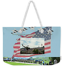 Weekender Tote Bag featuring the digital art Our Memorial Day Salute by Daniel Hebard