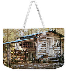 Weekender Tote Bag featuring the photograph Outbuilding by Judy Hall-Folde