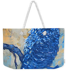 Weekender Tote Bag featuring the painting owl by Laurianna Taylor