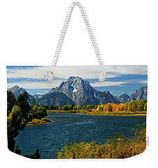 Oxbow Bend In Autumn Weekender Tote Bag