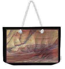 Weekender Tote Bag featuring the photograph Painted Hills Triptych by Leland D Howard