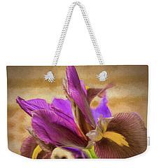 Painted Iris Weekender Tote Bag