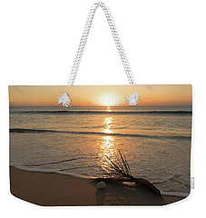 Palm Frond Coral Sunrise Delray Beach Florida Weekender Tote Bag