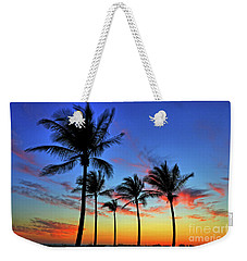 Weekender Tote Bag featuring the photograph Palm Tree Skies by Scott Mahon