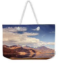 Weekender Tote Bag featuring the photograph Pangong Tso Lake by Alexey Stiop