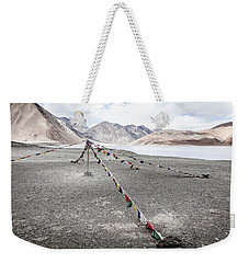 Weekender Tote Bag featuring the photograph Pangong Tso Lkae by Alexey Stiop