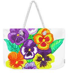 Pansies, Watercolour Painting Weekender Tote Bag