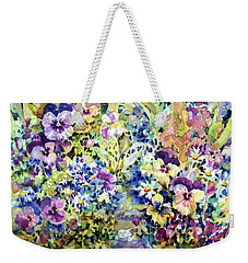 Pansy Path Weekender Tote Bag