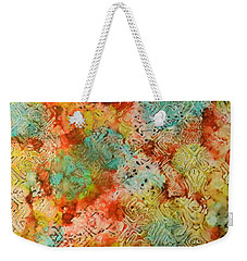 Weekender Tote Bag featuring the painting Paprika Drift Ink #18 by Sarajane Helm