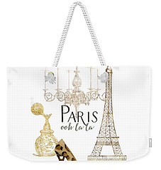 Paris - Ooh La La Fashion Eiffel Tower Chandelier Perfume Bottle Weekender Tote Bag