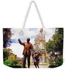 Weekender Tote Bag featuring the digital art Partners by Sandy MacGowan