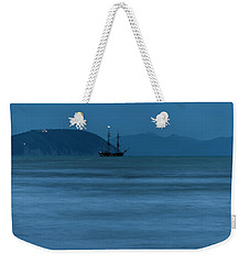 Weekender Tote Bag featuring the photograph Night Vessel - Vascello Di Notte by Enrico Pelos