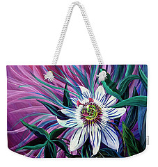 Passion Flower Weekender Tote Bag by Nancy Cupp