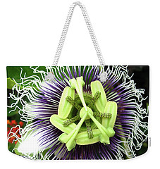 Passion Flower Weekender Tote Bag by Mary Ellen Frazee