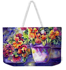 Patio Pansies Weekender Tote Bag