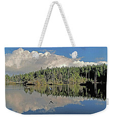 Weekender Tote Bag featuring the photograph Pause And Reflect by Suzy Piatt