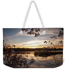 Pawcatuck River Sunrise Weekender Tote Bag