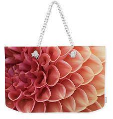 Peachy Dahlia Weekender Tote Bag