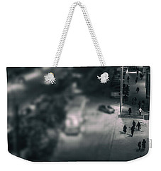 People At Night From Arerial View Weekender Tote Bag