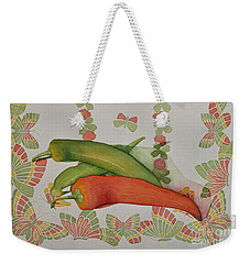 Peppers And Butterflies Weekender Tote Bag