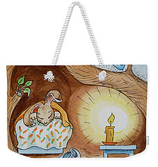 Peter Rabbit And His Dream Weekender Tote Bag by Irina Sztukowski