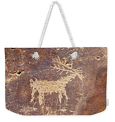 Weekender Tote Bag featuring the photograph Petroglyph - Fremont Indian by Breck Bartholomew
