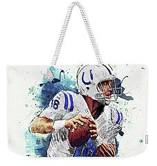 Peyton Manning Weekender Tote Bag by Taylan Apukovska