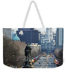 Philadelphia - The Parkway Weekender Tote Bag by Cindy Manero