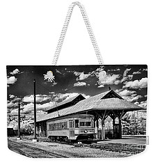 Weekender Tote Bag featuring the photograph Philadelphia Trolley by Paul W Faust - Impressions of Light