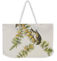 Pine Finch Weekender Tote Bag by John James Audubon