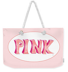 Weekender Tote Bag featuring the drawing Pink by Cindy Garber Iverson
