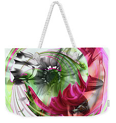 Pink Daisy Weekender Tote Bag by Elaine Hunter