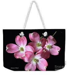 Pink Dogwood Branch Weekender Tote Bag by Jeannie Rhode