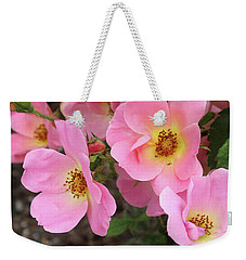 Pink Knockout Roses Weekender Tote Bag by Ellen Tully