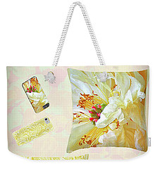 Weekender Tote Bag featuring the photograph Pinterest by Nareeta Martin