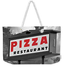 Pizzeria Sign Weekender Tote Bag by Phil Cardamone