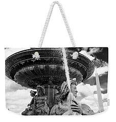 Place De La Concorde Fountain Weekender Tote Bag by Heidi Hermes