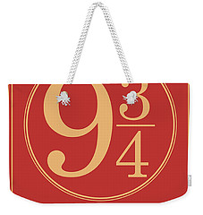Platform Nine And Three Quarters - Harry Potter Wall Art Weekender Tote Bag