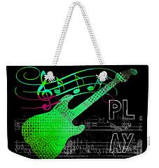 Weekender Tote Bag featuring the digital art Play 3 by Guitar Wacky