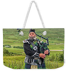 Playing Bagpiper Weekender Tote Bag