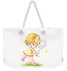 Playing Tennis Weekender Tote Bag