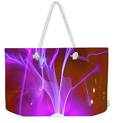 Playing With 20000 Volts Weekender Tote Bag by Paul W Faust - Impressions of Light