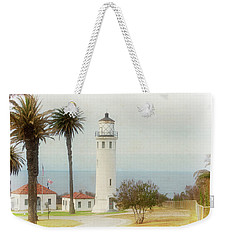 Point Vincente Lighthouse, California In Retro Style Weekender Tote Bag