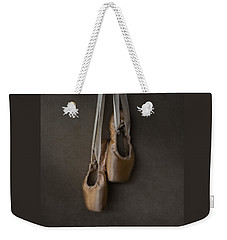 Weekender Tote Bag featuring the photograph Sacred Pointe Shoes by Laura Fasulo