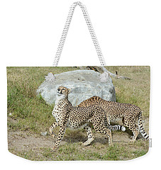 Weekender Tote Bag featuring the photograph Poise by Fraida Gutovich